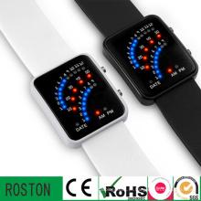 Moda LED Multifuction Relógio De Plástico