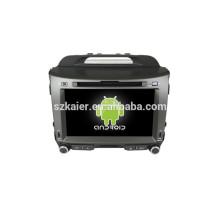Quad core android 4.4 voiture dvd gps de navigation, Bluetooth, MIRROR-CAST, AIRPLAY, DVR, jeux, double zone, SWC pour KIA SPORTAGE R