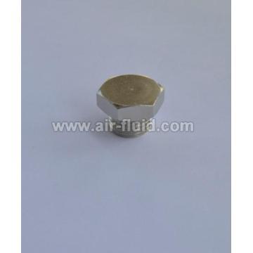 Cixi Air-Fluid BSP Taper Male Plug Hex Nickel Plated Brass Fittings