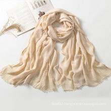 Lady Solid Color Rayon Scarves Shawls