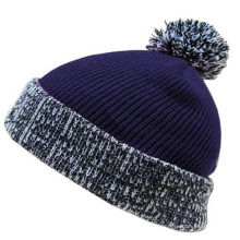 Fashion Jacquard Knitted Beanies with Top Ball