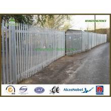 Огороженный оцинкованный осколочный забор