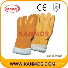 Yellow Cowhide Warm Winter Industrial Safety Mittens Hand Work Gloves (12308)