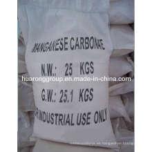 Carbonato de manganeso grado Industrial y alimentación