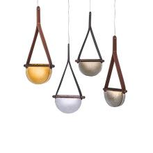 Lâmpadas pendentes de vidro de bronze