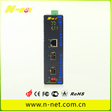 Gigabit POE-switch met één vezel