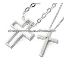 2015 colgante cruz para parejas de acero inoxidable colgante de alto brillo