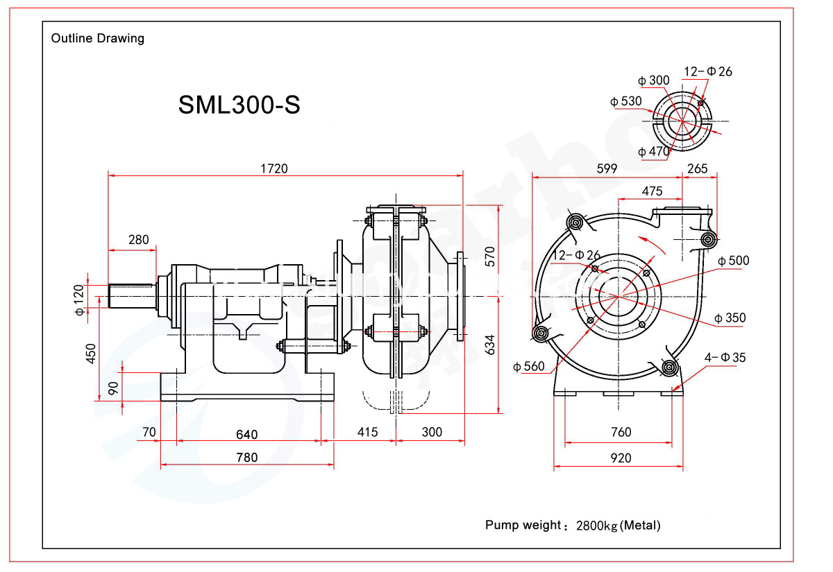 SML300-S outline drawing