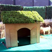 12 unidades 50 x 50 cm caja de seto artificial verde amigable tierra al por mayor de China para la casa del animal doméstico