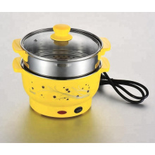 Portable stainless steel electric hot pot 201 material electric stew pot multi-purpose steamer