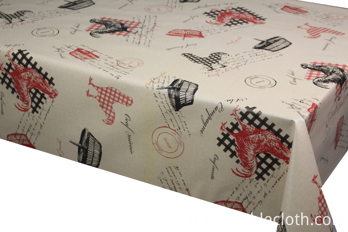 Chicken Series Printed Pvc Tablecloths