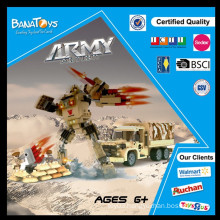 Special Offer! 2015 popular item kids 3d building blocks with 283pcs army plastic building block