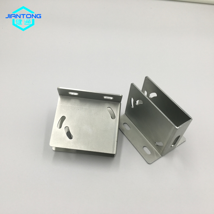 zinc plated sheet metal bracket stamping bending parts (3)