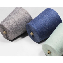 Fil de mélange de polyester de lin français pour le tissu et le textile