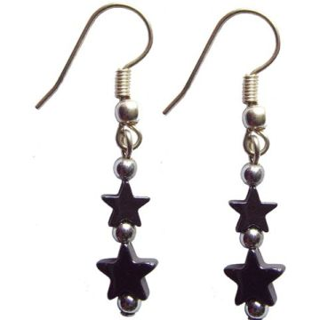 Hematite Earring with 925 silver hook