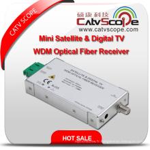 Mini satellite et téléviseur à bande numérique Wdm Récepteur optique à fibre optique