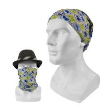 High Quality Custom Logo Multipurpose Windproof Breathable Polyester Bandana Headwear