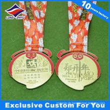 Monkey Medal New Year Running Award Gold Metall-Medaille mit Diamanten
