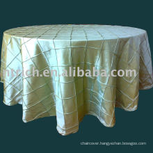 pintuck table cloth,taffeta table cloth,table cover,table linen for wedding,banquet,hotel