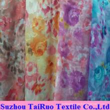 100% Polyester Jacquard Chiffon für Damen Kleiderstoff