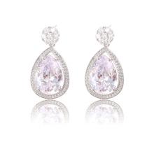 90969 xuping moda jóias 2018 china trending produtos de prata cor bijuteria mulheres brincos de zircônia cúbica