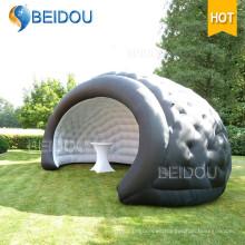 Fiesta de la boda de la carpa al aire libre Fiesta Bubble Camping Black Dome Tent Inflatable Shell Tents