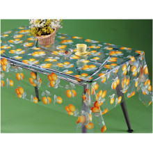 Красочные напечатанная PVC прозрачная скатерть с фруктами дизайн для дома/партии/Открытый