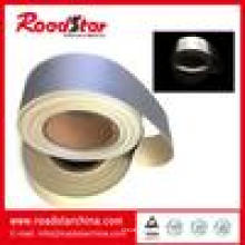 Silberne reflektierende PVC-Schaum-Leder für Sicherheit
