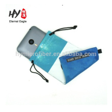 Factory producing soft chamoics top grade microfiber eyeglass pouch, textile for sunglasses, microfiber sleeve