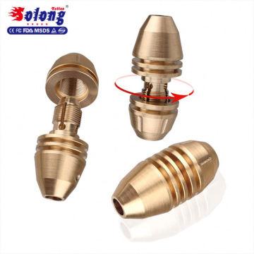 Solong Nouveau Design 25mm x 50mm Tatouage Fournitures Pur Cuivre Tubes Professionnel Self Lock Tatouage Grip