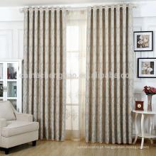 Tela de cortina de janela jacquard personalizada de luxo