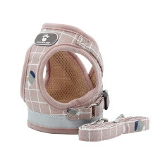 Cross-border new dog reflective and breathable lattice vest-style chest harness traction rope