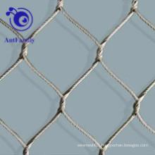 Stainless Steel Ferrule Rope Mesh For Animal