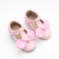 Sapatos de vestido Soft Pink Leather Baby Girl Shoes