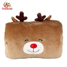 2016 novo estilo cervos em forma de brinquedo de pelúcia mão travesseiro mais quente