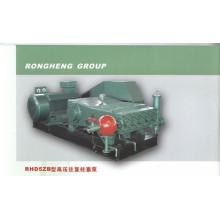 Adjustable flow type high pressure plunger pump