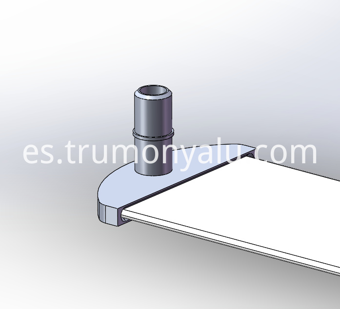 Connector for aluminum water cooling plate