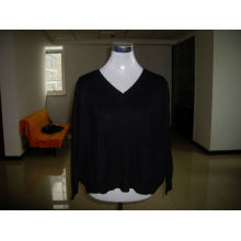 women cashmere silk pullover