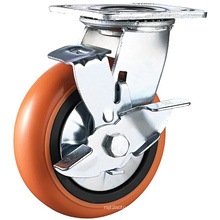 Heavy Duty PU (PVC) Side Mount Wheels Casters Castors Top Plate