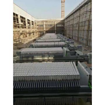 Desidratação de lodo da prensa de filtro de câmara hidráulica automática