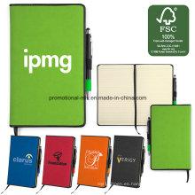 Conjuntos de cuadernos de papel certificados Fsc con portalápices / marcador / bolígrafo