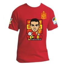 Aficionado al fútbol 2014 España camisetas de dibujos animados para la Copa del mundo Brasil