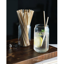 Wholesale Eco-Friendly Biodegradable Disposable Cocktail Drinking Straw Wheat Straw