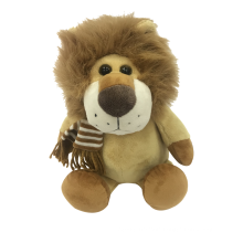 Plush Lion Wearing Scarf