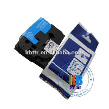 Bande adhésive compatible laminée noire sur transparent tz-151 24mm