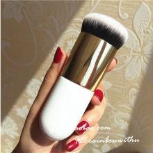 Alta qualidade único pó solto fundação escova de maquiagem sintética