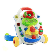 Plástico brinquedo música carrinho de bebê (h0001160)
