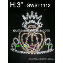 Halloween pumpkin crystal crown -GWST1112