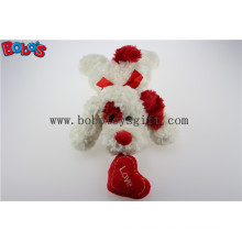 Bobo′s Plush White Lying Puppy Animal Toy with Red Ear and Heart Pillow in Wholesale Price Bos1192