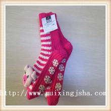Sala de meias de tricô padrão Womens meias